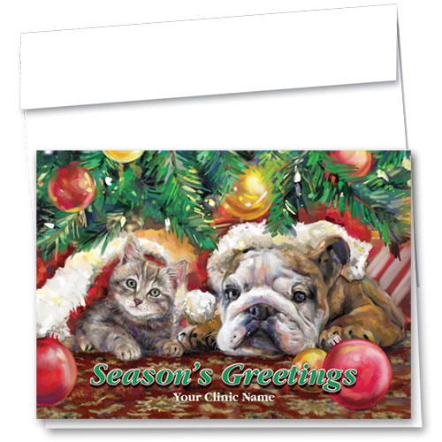 Veterinary Holiday Cards - Waiting For Santa