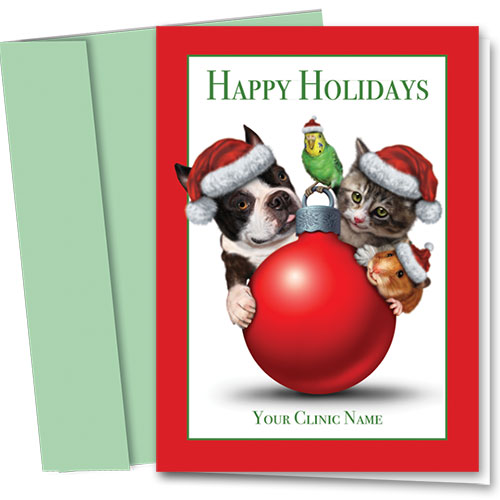 Veterinary Holiday Cards - Big and Small