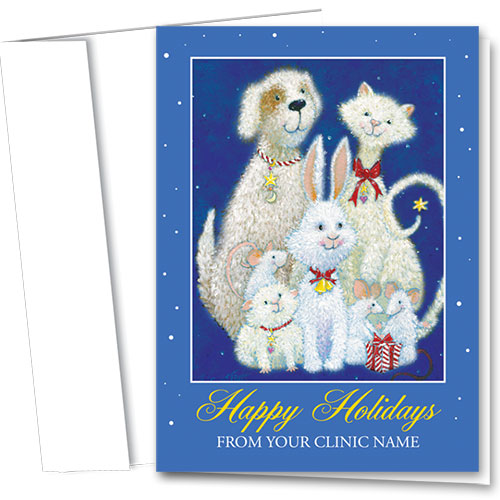 Veterinary Holiday Cards - Snowy Critters