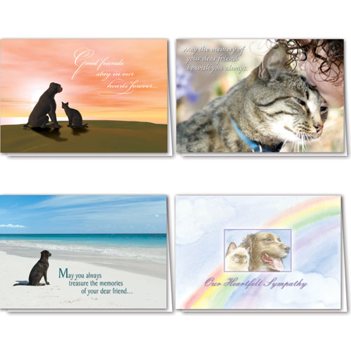 Full-Color Pet Sympathy Cards Assortment Pack - 01