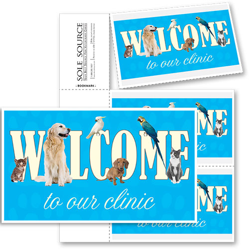 3-Up Veterinary Postcards - Welcome to Clinic
