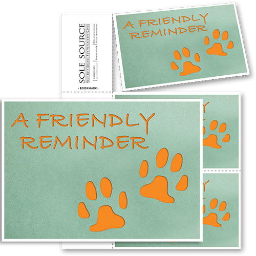 3-Up Veterinary Postcards - Orange Paws