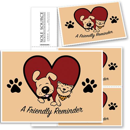 3-Up Veterinary Postcards - Happy Duo