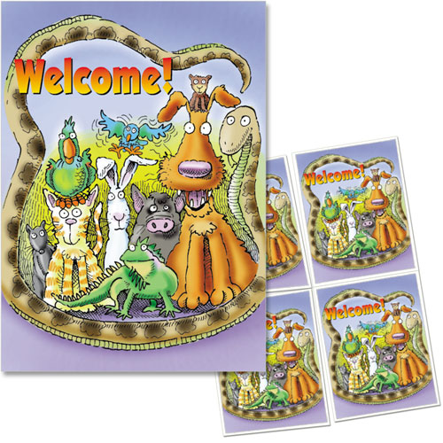 4-Up Veterinary Postcards - Welcome Group
