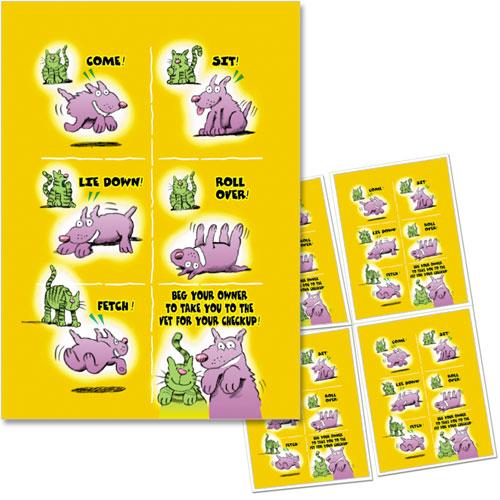 4-Up Veterinary Postcards - Tricks