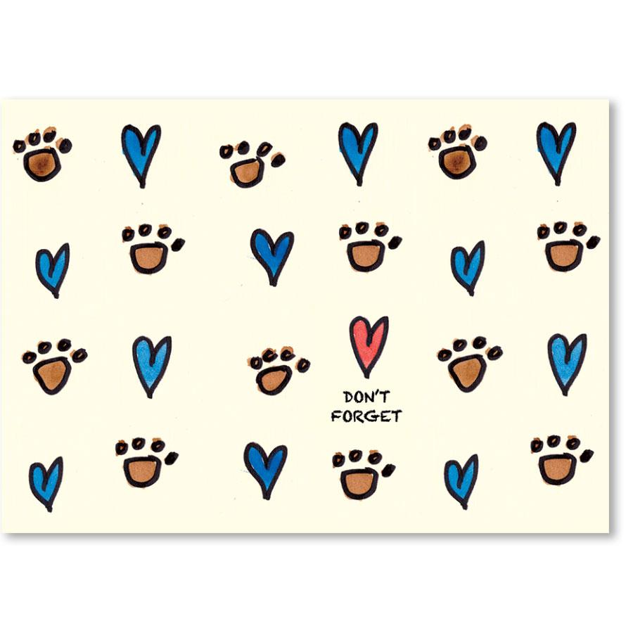 Standard Veterinary Reminder Postcards - Heart Reminder