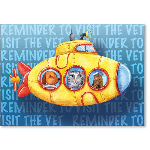 Standard Veterinary Reminder Postcards - Sea Reminder