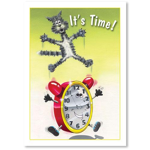Standard Veterinary Reminder Postcards - Time Reminder