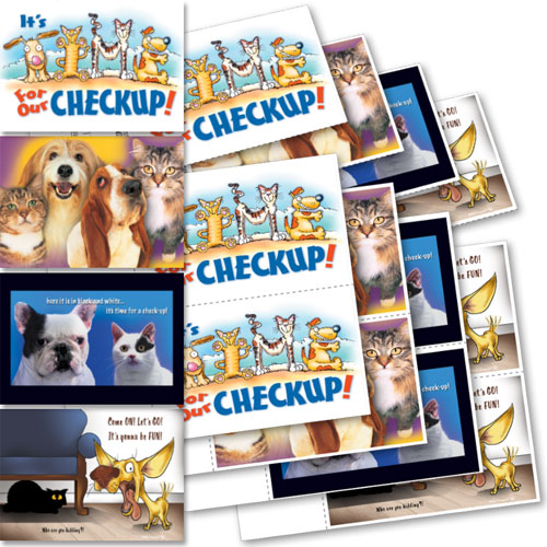 Clearance - Veterinary Reminder Postcards Assortment 3