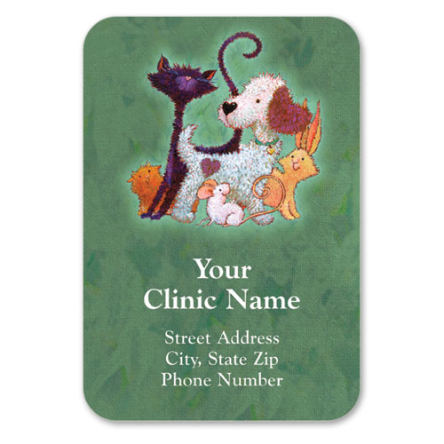 Full-Color Veterinary Magnets - Furry Friends