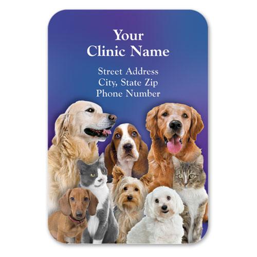 Full-Color Veterinary Magnets - Family Portrait