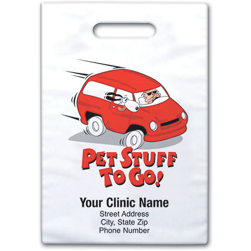 "Personalized Vet Supply Bags - 9"" X 9""  - Bag Design 27B"