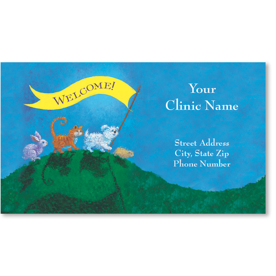 Full-Color Magnetic Business Cards - Welcome Banner | Veterinary ...