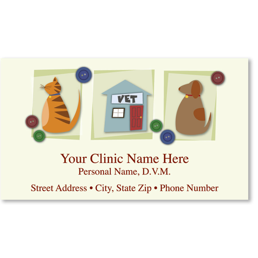 Full-Color Magnetic Business Cards - Vet | Veterinary Business Card ...