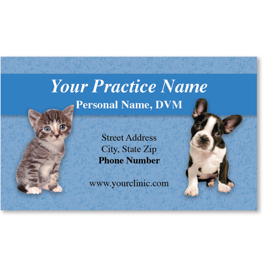 Full-Color Veterinary Magnetic Business Cards - Go Where