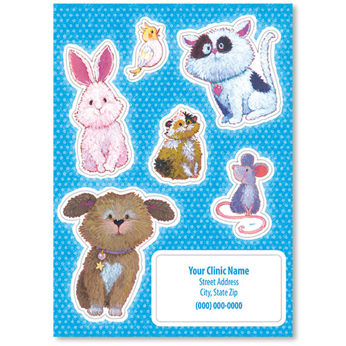 Pet Shaped Stickers - Multiple Pets