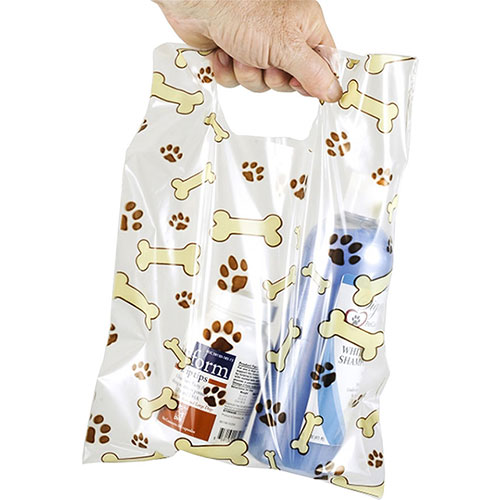 "Scatter Print Plastic Clinic Supply Bags 9"" x 12"""