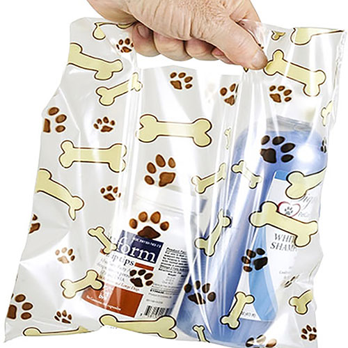 """Scatter Print Plastic Clinic Supply Bags 9"""" x 9"""""""