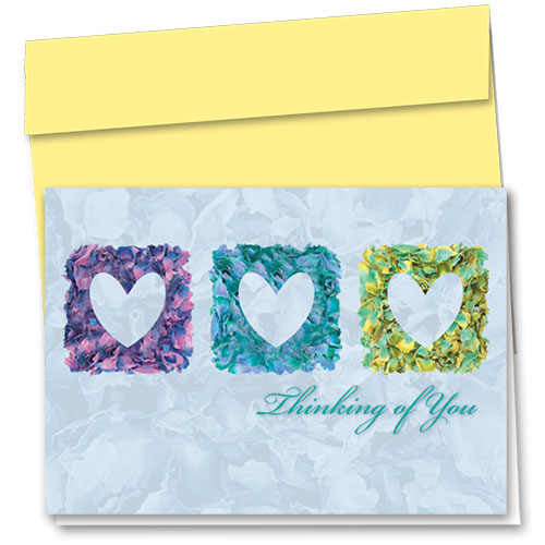 Full-Color Medical Sympathy Cards - Petals of Affection