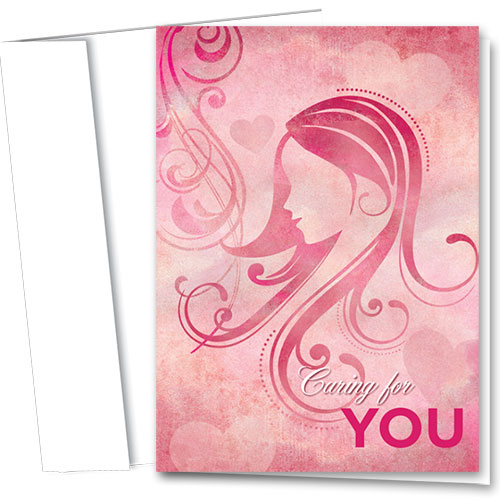 Full-Color Multi-Use Medical Greeting Cards - Shades of Pink