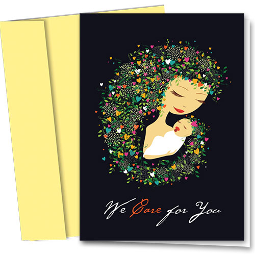 Full-Color Multi-Use Medical Greeting Cards - Mother & Child