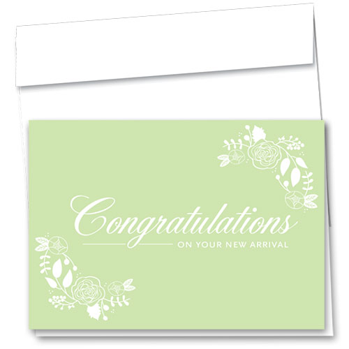 Full-Color Medical Congratulations Cards - Delicate Arrival