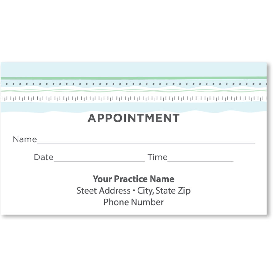 Medical Appointment Cards - Always Pastel