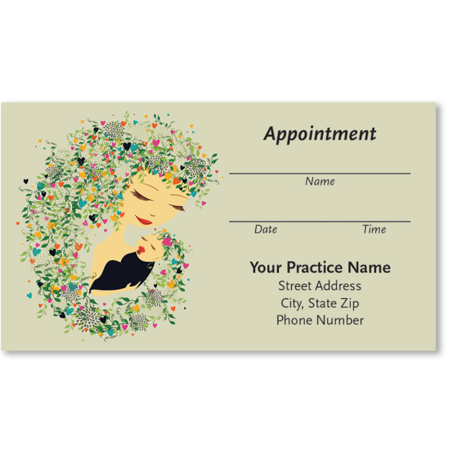 Medical Appointment Cards - Mother & Child
