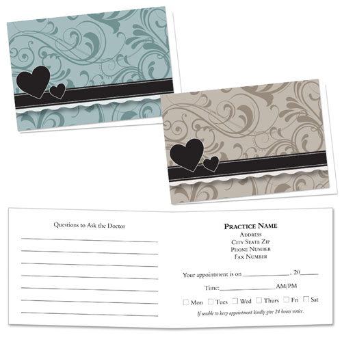 Full-Color Medical Appointment Cards Assortment - Somber Shades