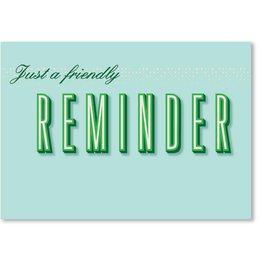 Standard Medical Postcards - Simple Reminder