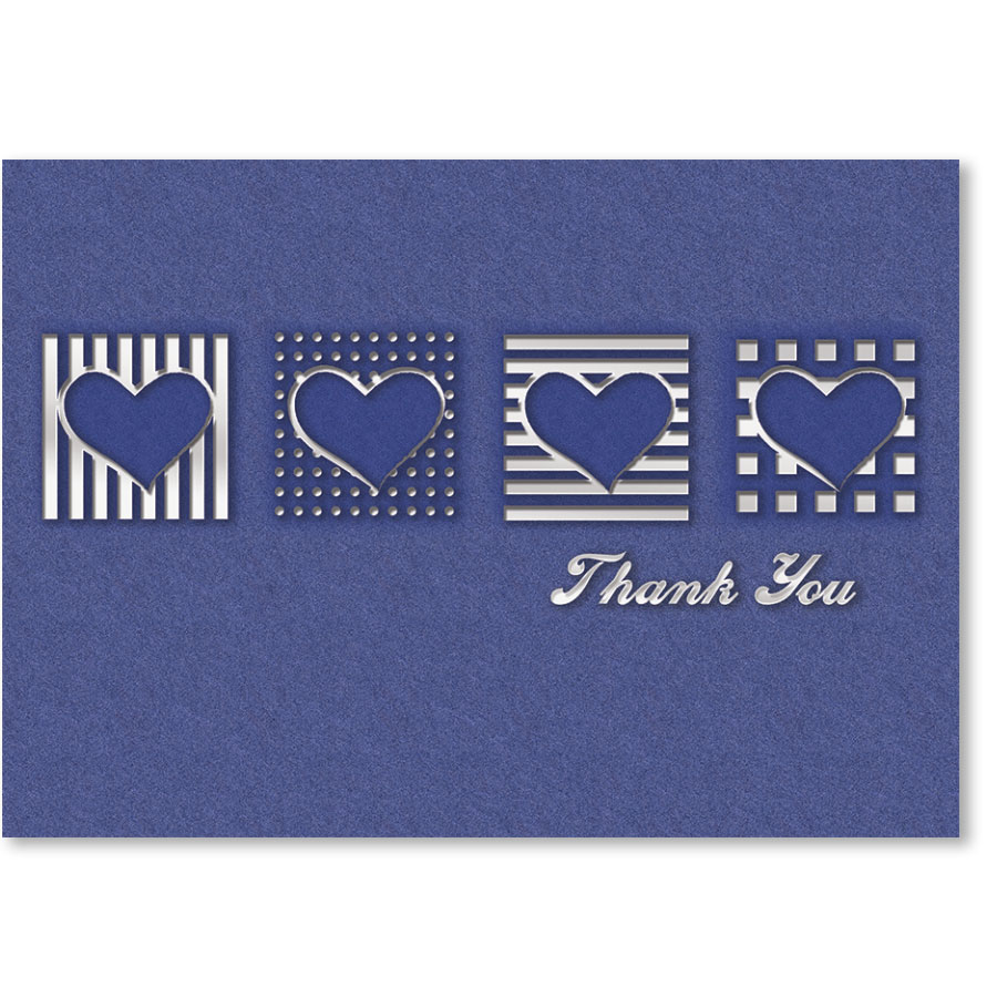 Standard Medical Thank You Postcards - Periwinkle