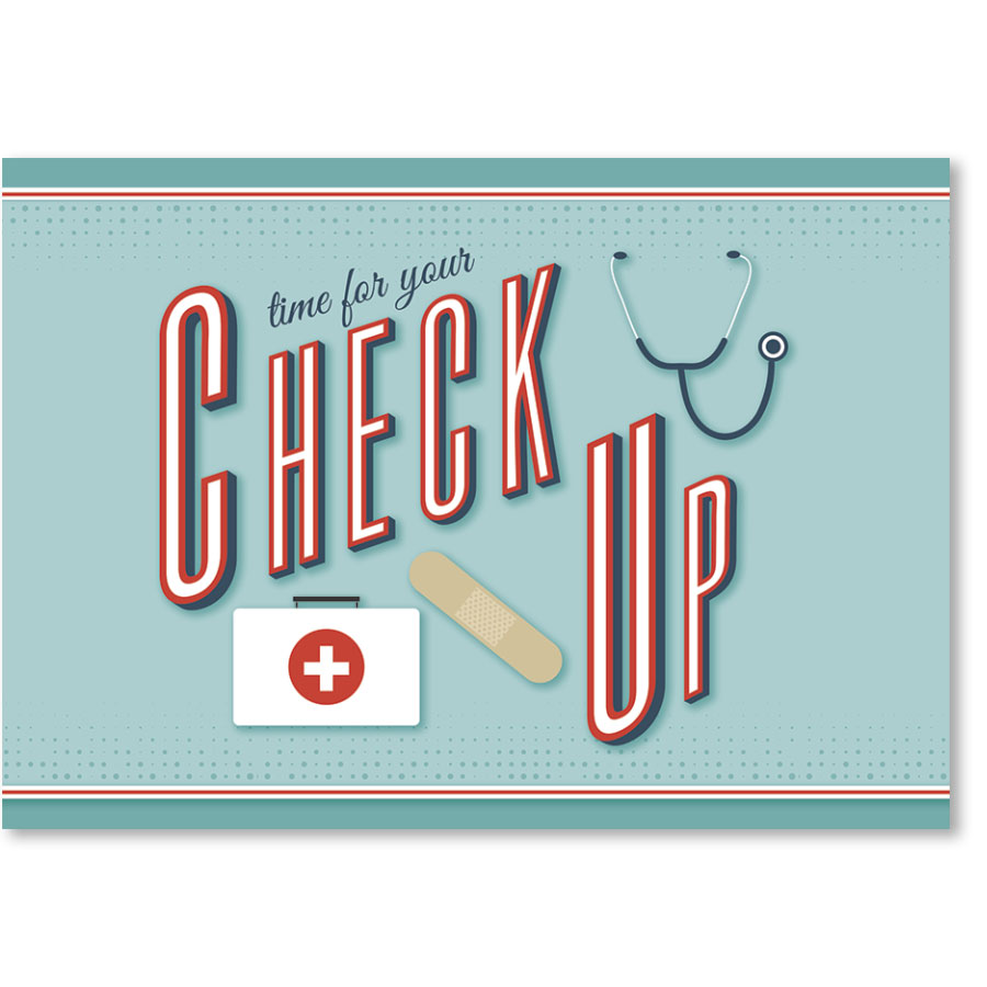 Standard Medical Postcards - Bandaid Checkup