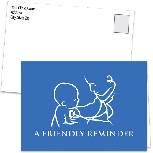 Fold-over Medical Postcards - Classic Reminder