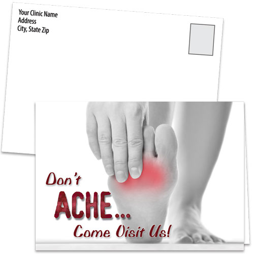 Fold-over Medical Postcards - No Ache