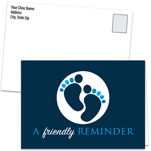 Fold-over Medical Postcards - Two Tone Toes