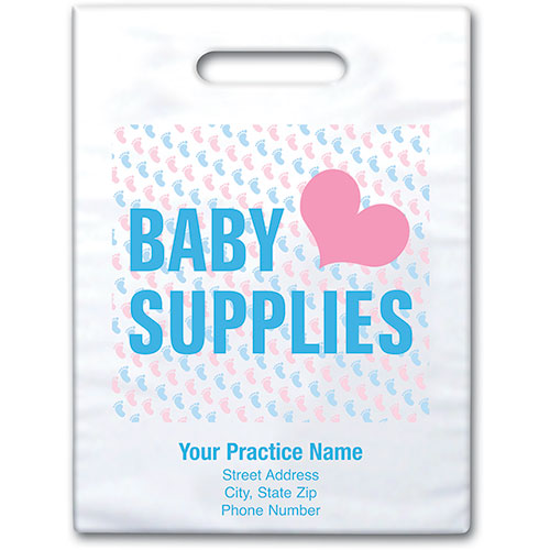 "Personalized Medical Supply Bags - 7.5"" x 9"" - Design 04D"