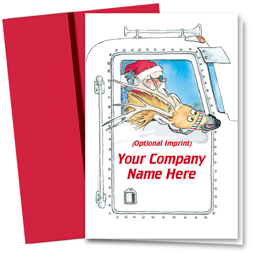 Trucking Christmas Cards - Santa and Friend