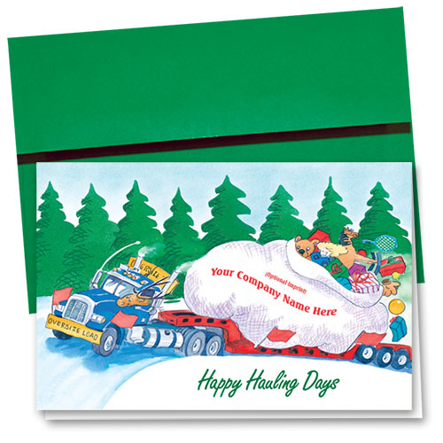 Trucking Christmas Cards - Santa's Haul