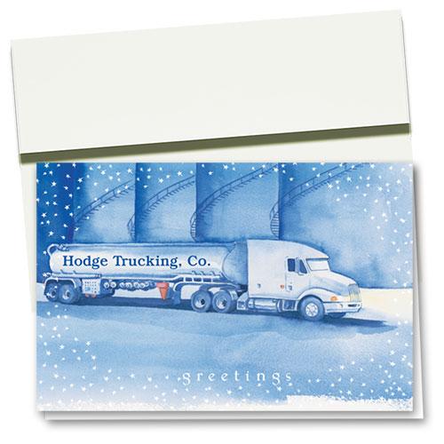 Trucking Christmas Cards - Starlight Tanker