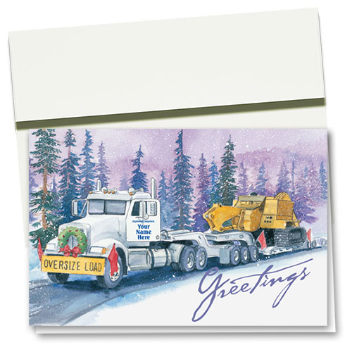 Trucking Christmas Cards - Winter Heavy Haul