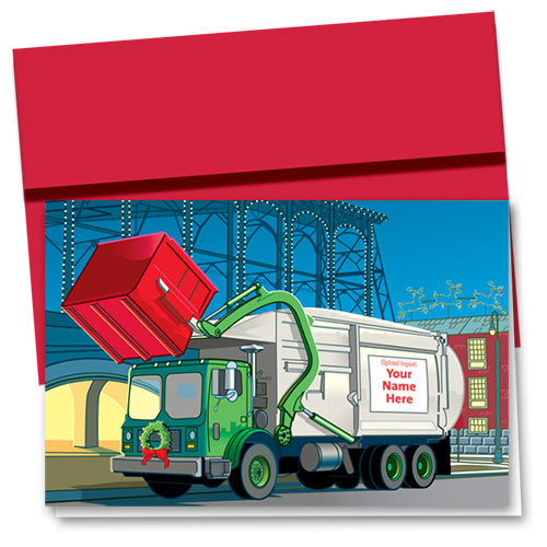 Construction Christmas Cards - Industrial Garbage