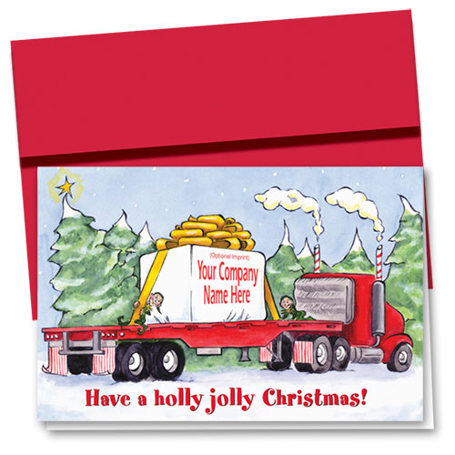 Holiday Cardpackaged Greetings Trucking Christmas Cards