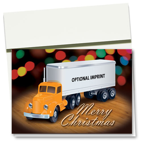 Trucking Christmas Cards - Toy Truck