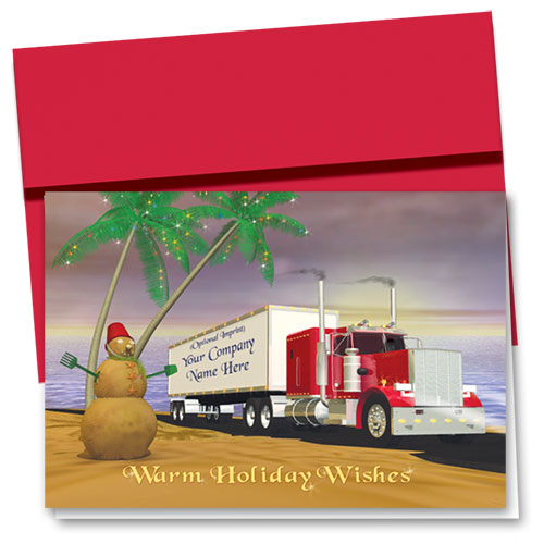 Trucking Christmas Cards - Warm Wishes