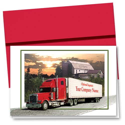 Trucking Christmas Cards - Country Crossing