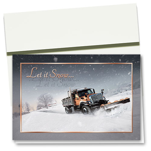 Trucking Christmas Cards - Let it Snow