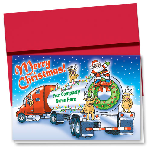 Trucking Christmas Cards - Holly Jolly Tanker