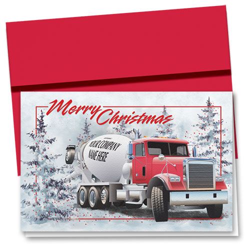 Construction Christmas Cards - Merry Concrete