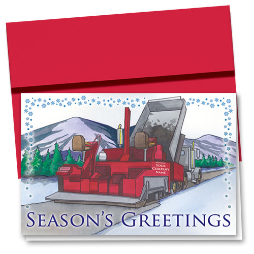 Construction Christmas Cards - Mountain Pass