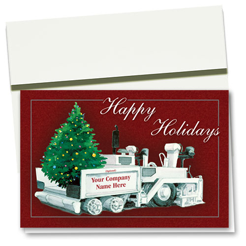 Construction Christmas Cards - Twinkling Tree Paver